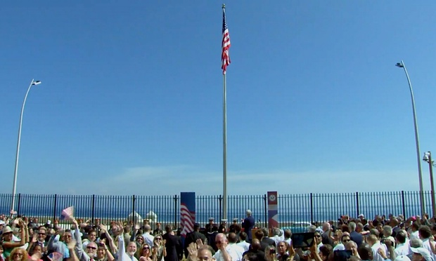 US Flag Raised Over Embassy in Cuba